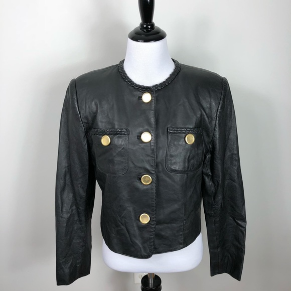 e0c0d1f76bc1 Vintage Jackets & Coats | Lord Taylor Genuine Leather Black Jacket ...